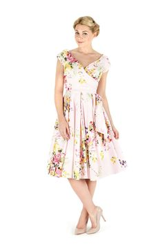 Seville Hourglass Swing Rose Dress | The Pretty Dress Company