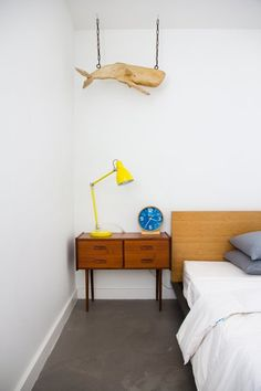 Industrial Task Table Lamp from west elm -via Monique Lavie's Minimal and Modern House Tour |@Apartment Therapy
