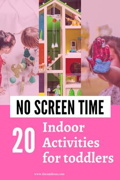 Activities for your toddler that help reduce the screen time. These are best for ages 18 months to 3 years Toddler Play, Toddler Learning, Toddler Preschool, Toddler Crafts, Ways Of Learning, Learning Through Play, Preschool Activities, Austin Activities, Indoor Activities For Toddlers