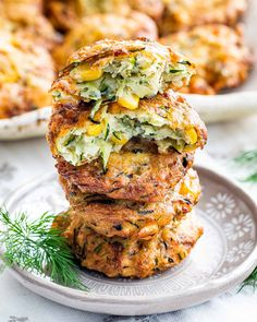 Corn Fritter Recipes, Corn Recipes, Side Dish Recipes, Vegetable Recipes, Vegetarian Recipes, Cooking Recipes, Healthy Recipes, Zucchini Corn Recipe, Zucchini Bread Recipes