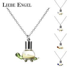 Liebe engel 패션 발광 빛나는 어두운 목걸이 거북이 펜던트 목걸이 야광운 문 collares 여성 보석 2017