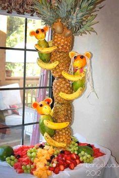 Monkey pineapple centerpiece