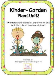I combined this unit with some other plant and seed materials as we planted our garden and the girls kept track of how their plants were growing.  This unit has great experiments with soil, seeds and flowers!