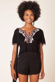 blusa tricot bordado