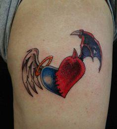 Angel / Devil Heart Tattoo