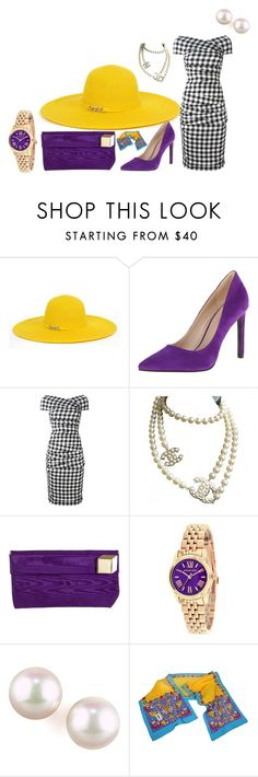 """""""Picnic Princess"""" by lydiarose0504 ❤ liked on Polyvore featuring Magid, Nine West, Dolce&Gabbana, Chanel, Pierre Hardy, FOSSIL, Majorica and Yves Saint Laurent"""