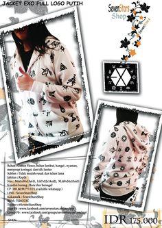 Jaket exo full logo putih