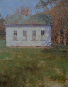 """Leiper's Creek Schoolhouse"" by Beth Marchant Oil Homeschool, Paintings, Oil, Paint, Painting Art, Painting, Drawings, Pictures, Homeschooling"