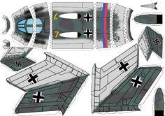 WW II German jet fighter paper model
