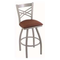 Holland Bar Stool Catalina 36 in. Extra Tall Swivel Bar Stool with Leather Seat Rein Adobe - 82036BZREIADO