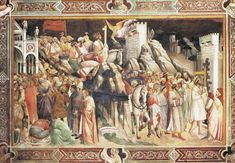 Agnolo Gaddi -  Leggenda della Vera Croce - affresco - 1380-1390 - Cappella Maggiore - Santa Croce Firenze