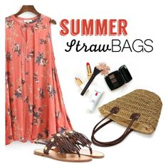 Summer Straw Bag by clotheshawg on Polyvore featuring polyvore fashion style Valentino clothing strawbags