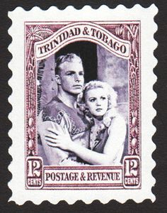 The 1936 12-cent Trinidad & Tobago issue honoring Flash Gordon and Dale Arden, who that year saved the earth from Ming the Merciless, ruler of the planet Mongo.