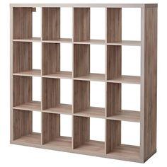 KALLAX Shelf unit - walnut effect light gray - IKEA - Jugueteros para niños - lack Ikea Kallax Shelf Unit, Wall Shelf Unit, Ikea Shelves, Wall Shelves, Shelving, Glass Shelves, Shelf Units, Closet Shelves, Ideas