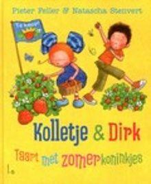 Taart met zomerkoninkjes. Twaalf avonturen van Kolletje en haar vriendje Dirk tijdens de zomervakantie. Ze houden een groot waterfeest in de tuin, bezoeken de kinderboerdeij en maken een zomerkoninkjestaart. Vanaf ca. 4 jaar.