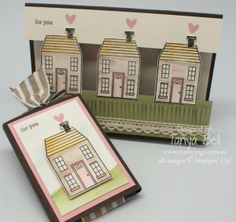 Stampin' up! Holiday Homes Bundle to make a cute card for someone with a new home.