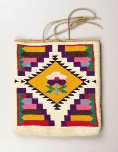 American Indian Art:Textiles, A PLATEAU CORNHUSK FLAT BAG. . c. 1900. ...
