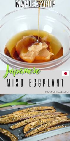 This roasted Japanese eggplant or Nasu Dengaku topped with a gorgeous sweet umami-rich miso glaze makes a perfect side dish to literally anything. Super easy to make and requires only 15 minutes of preparation time! Japanese Side Dish, Japanese Dinner, Veggie Dishes, Vegetable Recipes, Food Dishes, Japanese Eggplant Recipes, Miso Eggplant, Japanese Appetizers, Asian Cooking
