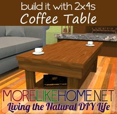 Build a Chunky Coffee Table out of 2x4s with MoreLikeHome.net. Plus Lowes / Home Depot gift cards giveaway!