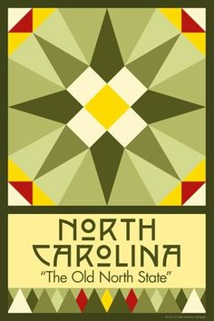 Olde America Antiques | Quilt Blocks | National Parks | Bozeman Montana : 50 STATE QUILT BLOCK SERIES - NORTH CAROLINA