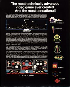 The Arcade Flyer Archive - Video Game Flyers: Defender, Williams Electronics, Inc.