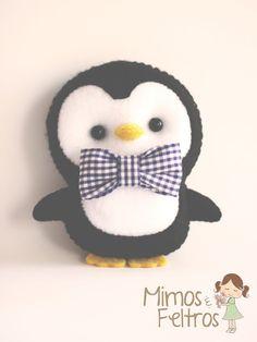Blog Bonifrati Felt Penguin  Stuffed Toy Pattern Sewing Handmade