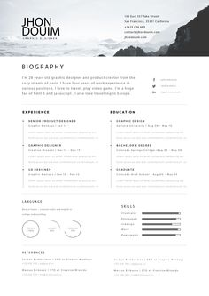Free Resume ( PSD Gift ) on Behance
