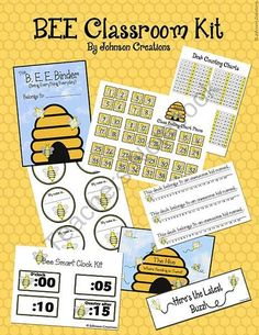 Bee Classroom Kit by Johnson Creations from Johnson Creations on TeachersNotebook.com (23 pages)