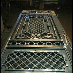 CTC Grill Gate Design, Steel Gate Design, Iron Gate Design, Window Grill Design, House Gate Design, Front Door Design, Metal Gates, Wrought Iron Doors, Iron Furniture