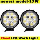 2x 27W CREE 12V 24V LED Work Light Flood Lamp Tractor Truck SUV ATV Offroad JEEP