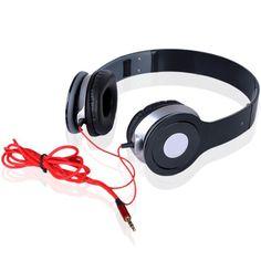 Fashion Adjustable Headband Earphones with Mic Bluetooth Stereo Headset, Bluetooth Headphones, Beats Headphones, Over Ear Headphones, Red Headband, Tech Gadgets, Ipod, Electronics, Store