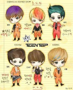 NIEL , C.A.P , CHANGJO , CHUNJI , L.JOE RICKY , TEEN TOP
