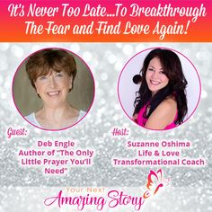 "Deb Engle - Author of ""The Only Little Prayer You'll Need"" is sharing with you why it's never too late to breakthrough the fear and find love again after Finding Love Again, Little Prayer, Need You, Dating Advice, Prayers, Author, Life, Dating Tips, I Need You"