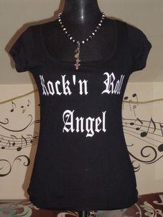 Festival T-Shirt Rock'n Roll Angel Gr. S M L von TachinedasCreative