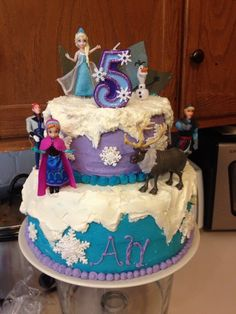 Frozen Birthday Party cake! See more party ideas at CatchMyParty.com!