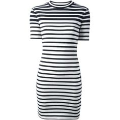 T By Alexander Wang striped dress found on Polyvore
