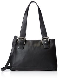 Women's Shoulder Bags - Visconti Womens Large Leather Shoulder Bag Handbag Messenger Bag Black One Size * Find out more about the great product at the image link.