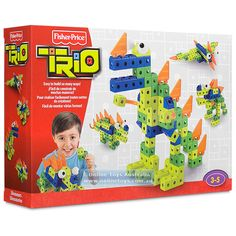 Designed to grow with kids, children can use this set to build prehistoric dinosaurs with the included 57 Fisher Price Trio pieces included or combine with other Trio building sets to create and build in so many ways. Jack Haley, Make Build, Prehistoric Dinosaurs, Fisher Price, Bricks, Easy, Connection, Creations, Presents