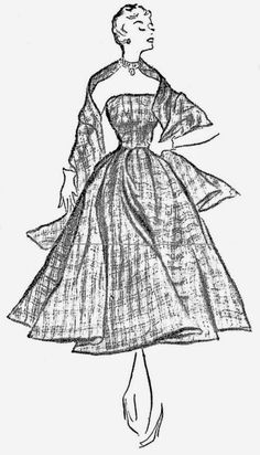 ANOS DOURADOS: IMAGENS & FATOS: FATOS - MODA vestido de 1952 para senhoras