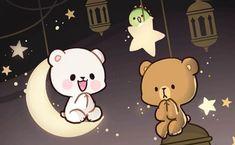 Cute Bear Drawings, Cute Couple Drawings, Cute Couple Cartoon, Cute Love Cartoons, Cute Cartoon Characters, Cute Kawaii Drawings, Cute Love Gif, Cute Cat Gif, Cute Good Night