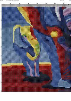 Beaded Cross Stitch, Modern Cross Stitch, Cross Stitch Charts, Cross Stitch Patterns, Elephant Cross Stitch, Cross Stitch Animals, Cross Stitch Gallery, Elephant Gifts, Elephant Baby