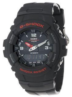 Casio Men's G100-1BV G-Shock Classic Ana-Digi Watch - http://www.watchesandstuff.com/casio-mens-g100-1bv-g-shock-classic-ana-digi-watch/