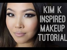 KIM K INSPIRED TUTORIAL + Suitable for Asian/Hooded Eyes - YouTube