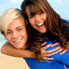 """Ross Lynch and Maia Mitchell- the stars of the movie, """"teen beach movie"""" i wish I could meet them"""