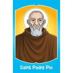 Free Saint Padre Pio flash card download