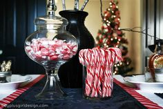 This is great for table decor for a holiday party! (curated for BlogHer Loves Holiday Parties sponsored by Cracker Barrel Cheddar Perfected)