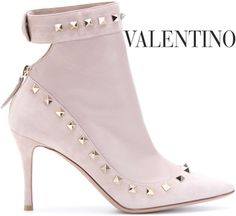 Valentino studded leather & suede boot