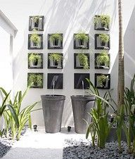 Vertical Gardens for narrow space Beautiful architecture The beautifully des … Unique Gardens, Small Gardens, Vertikal Garden, Landscape Design, Garden Design, Vertical Garden Wall, Patio Interior, Interior Design, Outdoor Areas