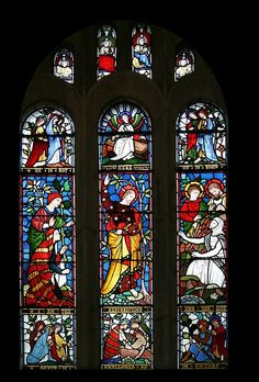 "This is Matisse's Stained glass windows. Some of my most favorite of his works. Matisse worked on these windows from around 1948 to 1952. His intention here was to convey the spirit. The windows represent the ""tree of life"". The priest clothed in white, floor length cassocks hold his fingers to his lips. The late afternoon light shines thru the windows and cast a yellow , aquamarine blue, and bottle green rays to the floor. This lovely piece is located in Vene, France."