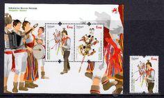 PORTUGAL: BRINQHINO.  Este curioso instrumento, que procede de la isla portuguesa de Madeira, consiste en unos pequeños muñecos ataviados con el traje regional. Las figuras masculinas llevan una pequeña castañuela a la espalda. Todos ellos están sujetos a un émbolo articulado mediante un ingenioso mecanismo que, manejado con habilidad, hace bailar a los muñecos rítmicamente, mientras que las castañuelas juegan su papel de instrumento de percusión.  En la Península encontramos un instrumento…